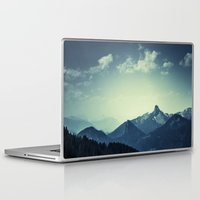 mountains Laptop & iPad Skins featuring Mountains by Koka Koala