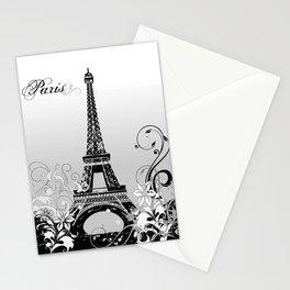 Eiffel Tower Paris (B/W) Stationery Cards