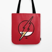 time low Tote Bags featuring Running Low by Steven Toang