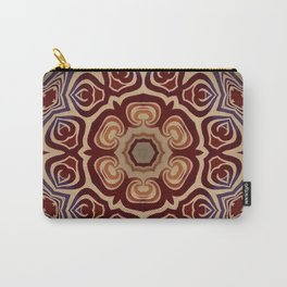 Rambling Rose // Hippy Bohemian Flower Mandala Red Orange Dead Grateful Psychedelic Trippy Carry-All Pouch