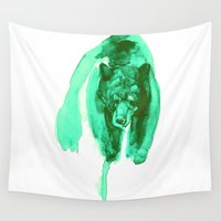 the fault Wall Tapestries featuring bear by Doruktan Turan