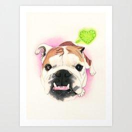 English Bulldog - F.I.P. - @LucyFarted Art Print