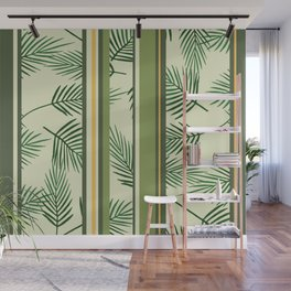 Palm Leaves green stripes Wall Mural