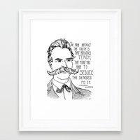 nietzsche Framed Art Prints featuring Friedrich Nietzsche by Alexandra Ensign