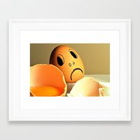 eggs Framed Art Prints featuring eggs by  Agostino Lo Coco
