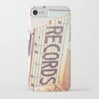 records iPhone & iPod Cases featuring Records by JoyHey