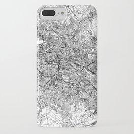 Berlin White Map iPhone Case