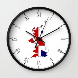 United Kingdom Map and Flag Wall Clock