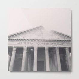The Pantheon, fine art print, black & white photo, Rome photography, Italy lover, Roman history Metal Print