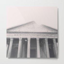 The Pantheon, fine art print, black & white photo, Rome photography, Italy lover, Roman history Metal Print