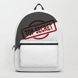 Top Secret Half Covered Ink Stamp Backpack