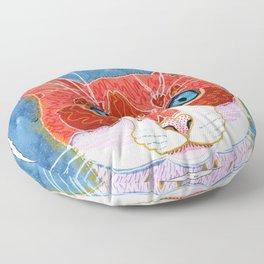 Lani - Pop Art Cat Portrait Floor Pillow