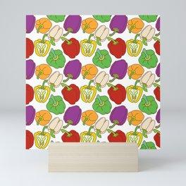Bell Peppers Pattern Mini Art Print