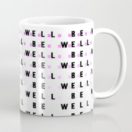 Be Well Ombre Squares Coffee Mug