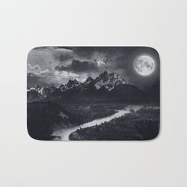 Moon Mountains and River Bath Mat
