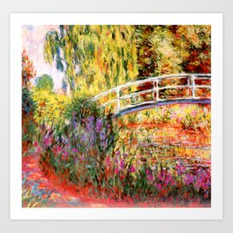 "Claude Monet ""Water lily pond, water irises"" Art Print"