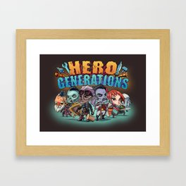 Hero Generations by Heart Shaped Games Framed Art Print