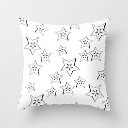 what's inside the Star fruit pattern Throw Pillow