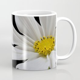 White Cosmos Flower Coffee Mug