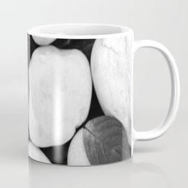 Zen White Stones On A Black Background #decor #society6 #buyart Coffee Mug