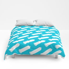 LYC Condom Pyjama Top - Blue Comforters