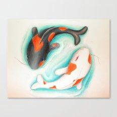 Coy Fish (Yin & Yang) Canvas Print