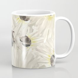 Citrine White Floral Coffee Mug