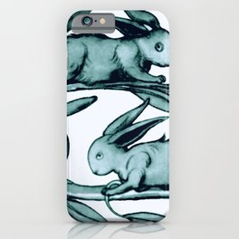"William De Morgan ""Rabbits Running Along a Branch"" 2. iPhone Case"