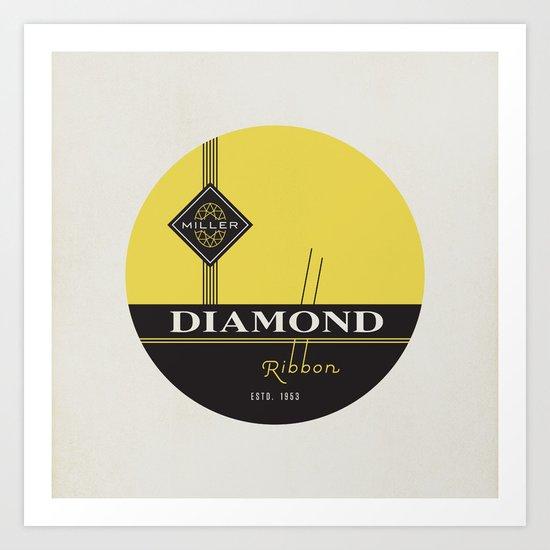 """Vintage Typewriter Tin Lids Series: """"Diamond"""" Art Print"""