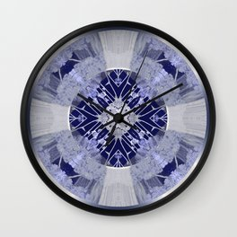 Microchip Mandala in Purple Wall Clock