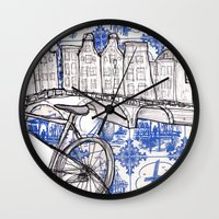 amsterdam Wall Clocks featuring Amsterdam by crocomila