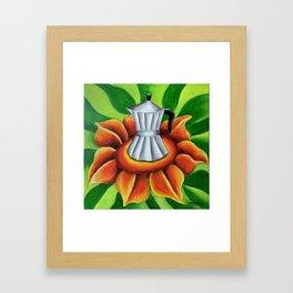 Coffe maker (Cuban cafetera). Miguez art Framed Art Print