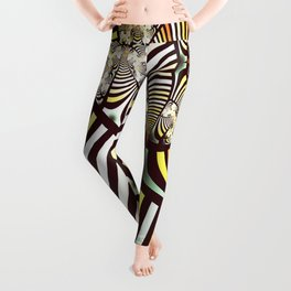 Vintage fractal 1 Leggings