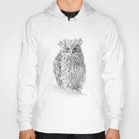 buffy Hoodies featuring The Buffy Fish Owl by Asya Mitskevich