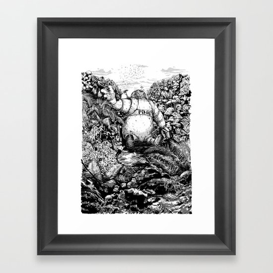 A long time ago... Framed Art Print