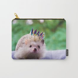 Hedgehog Wearing a Crown (Color) Carry-All Pouch