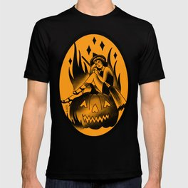 Witch Tattoo style pinup T-shirt
