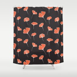 Ginkgo Biloba Leaves Pattern Dark #society6 #decor #buyart Shower Curtain