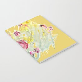 Pink Poppy on Milky Green Notebook