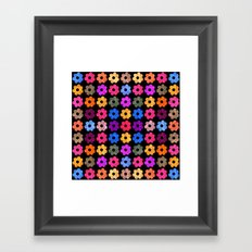 Colorful Floral Pattern III Framed Art Print