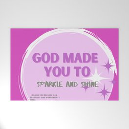 Sparkle and Shine Welcome Mat