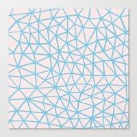 Seg Blue Pink Canvas Print