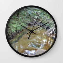 The Holy Spirit deep-forest river explorations in El Yunque rainforest PR Wall Clock