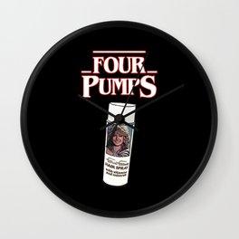 Four Pumps Wall Clock