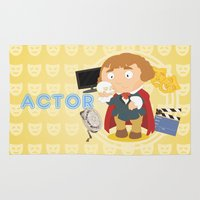 actor Area & Throw Rugs featuring Actor by Alapapaju