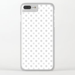 SNOWFLAKES, SILVER Clear iPhone Case