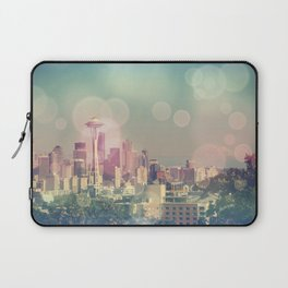 Dreamy Seattle Skyline Laptop Sleeve
