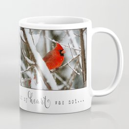 Cardinal Heart Coffee Mug