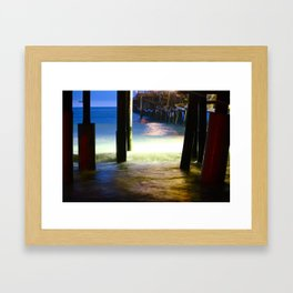 Pier Pilings Framed Art Print