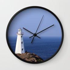 Blue Sky Lighthouse Wall Clock